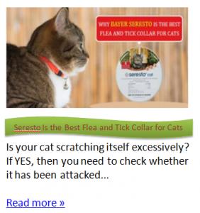 Seresto Flea Collar for Cats